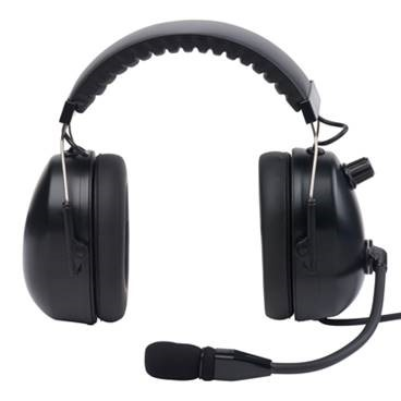 High noise headset, noise cancelling headset, muff headset, radio headset