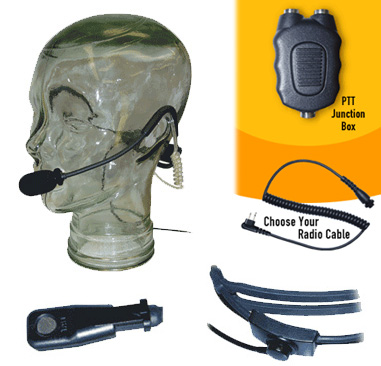 Modular Tactical Headset for Icom