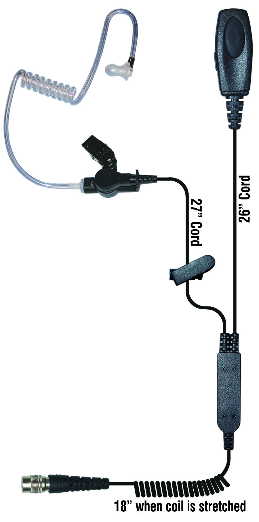 Sentry Two Wire Radio Earpiece