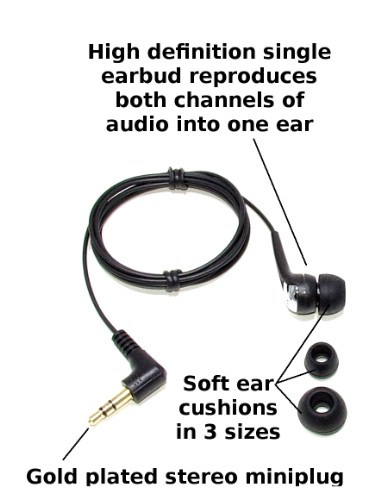 Single Sided Earbud