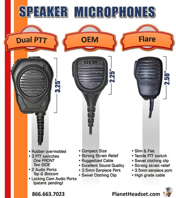 motorola mt2000 radio accessories specifications · compare speaker mics