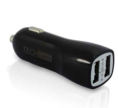 Dual-Port 2.1A USB Car Charger Auto Adapter
