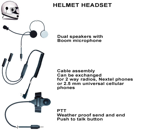 motocycle helmet headset
