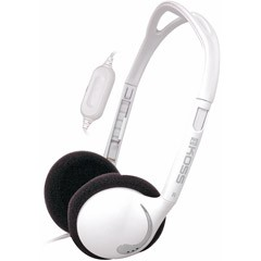 White lightweight portable Stereophone